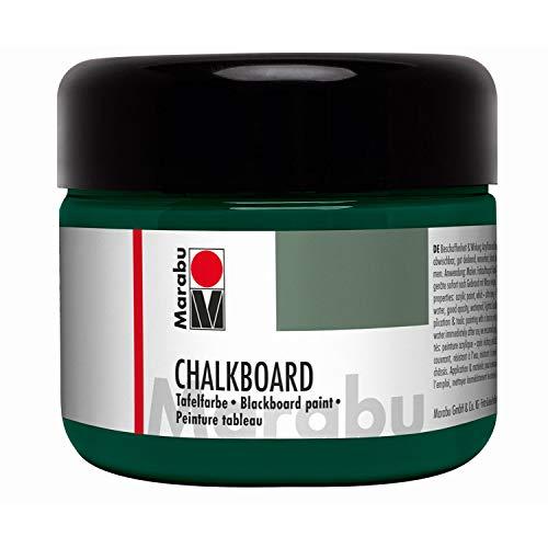 Marabu 12750025868 - Chalkboard Tafelfarbe, Tafel Grün, 225 ml Dose, deckende Acrylfarbe, mit Tafelkreide beschreibbar und feucht abwischbar, wasserfest und lichtecht