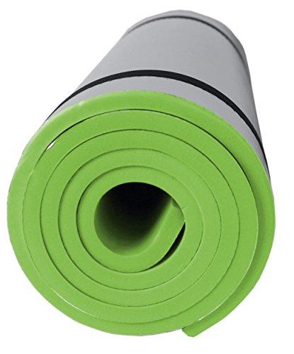 SportVida Isomatte für Camping Zelt | Yogamatte rutschfeste Fitnessmatte für Yoga Pilates Gymnastik | Schaumstoff Eva mit Aluminiumbeschichtung | 180x50x1 cm (Grell Grün)