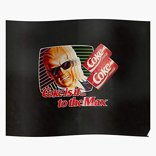 Coca Max 1980S Headroom Is Cola 80S It Coke Home Decor Wall Art Print Poster !