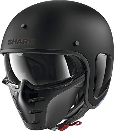 SHARK Herren NC Motorrad Helm, Schwarz, M