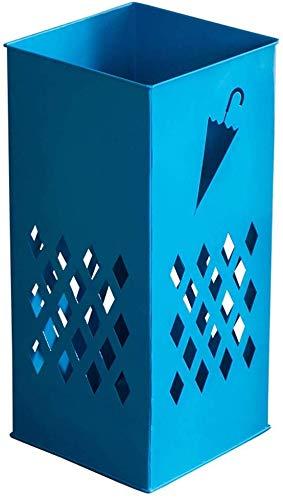KLMNV; KLBVB Vloer afvoer Creatieve Opslag Plank Thuis Open Haard Paraplu Opslag Emmer Europese Smeedijzeren Vloer Eenvoudige Multifunctionele Paraplu Stand Blauw Paraplu Stand 50 * 23 * 23cm