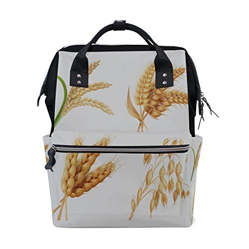 Landwirtschaft Getreide Reis Weizen Große Kapazität Windel Taschen Mummy Rucksack Multi Funktionen Windel Pflege Tasche Tote Handtasche Für Kinder Babypflege Reise Täglichen Frauen