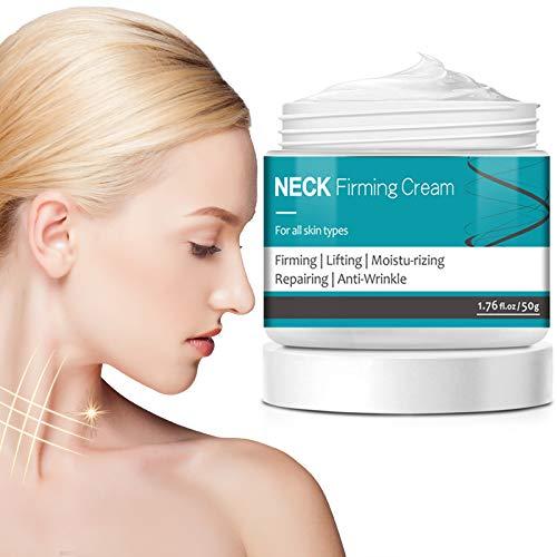 Neck Firming Cream, Neck Cream Anti Aging Moisturizer for Neck & Décolleté Saggy Neck Tightener & Double Chin Reducer Cream, 1.7 fl oz