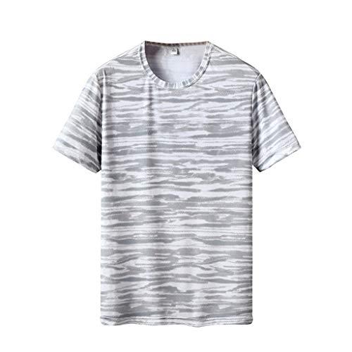 Heren Zomer Ademend Casual T-shirt - Mode Korte mouw afdrukken Fitness Sport Sneldrogende Top Blouse Kleding