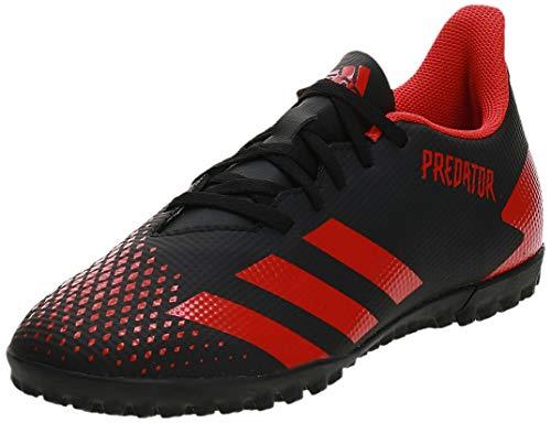 Adidas Predator 20.4 Tf, Zapatillas Deportivas Fútbol Hombre, Negro (Core Black/Active Red/Core...