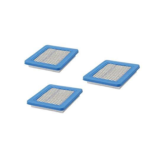 4 Stück Rasenmäher-Luftfilter, flach, hochwertig, langlebig, Luftfilterkartusche für Push-Rasenmäher & Tracto