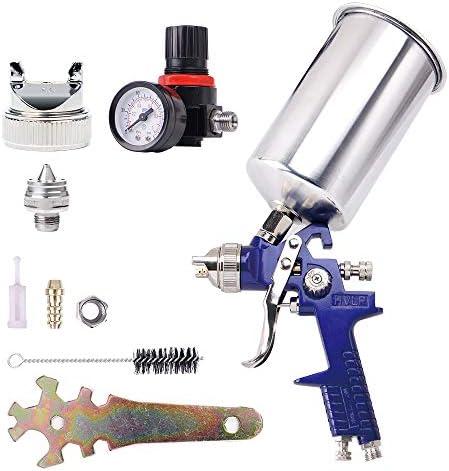 Pindex HVLP Pistolet224; peinture224; air aliment 233; par gravit 233; avec tasse en aluminium 1000 cca 233;rographe1 buse de 14 mm
