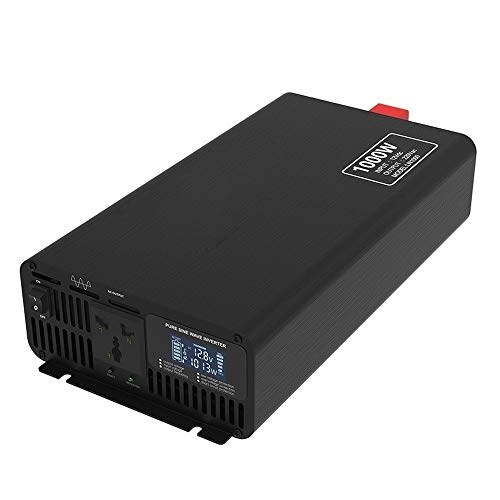 JHHXW 1000W Wechselrichter, DC12V / 24V / 36V / 48V / 60V / 72V-AC110V / 220V Reine Sinus-Wellen Auto Spannungswandler, Multifunktions-LCD-Anzeige (Color : DC36V, Size : AC220V)