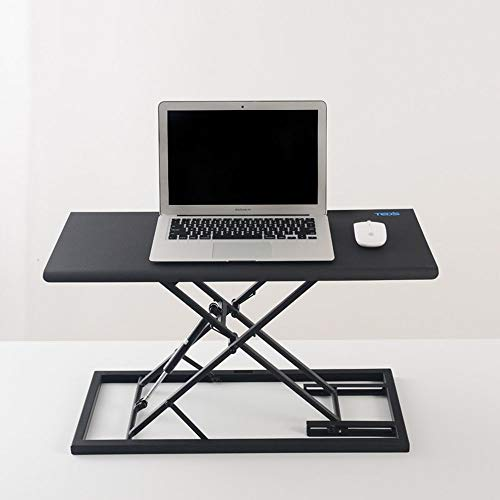 MANS Table Pliante pour Ordinateur Portable Debout Bureau Ordinateur Portable Stand-up Ordinateur Table élévatrice Table de Travail Réglable Mobile Pliable Simple Moderne