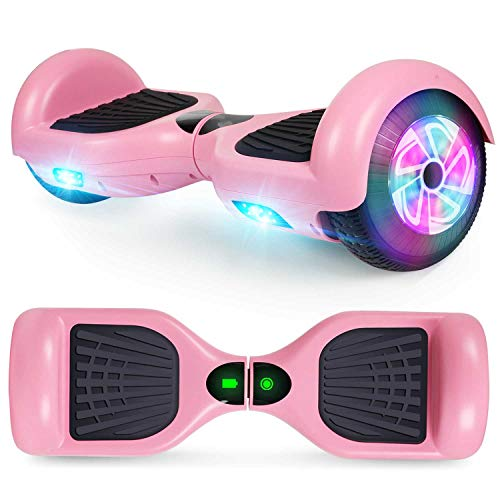CBD Hoverboard for Kids, 6.5 Inch Two Wheel Hoverboard, Self Balancing Electric Scooter with LED Lights (pink)
