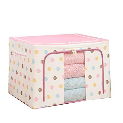 Yusea Oxford - Caja de almacenamiento para ropa de cama, mantas, cojines y zapatos, organizador