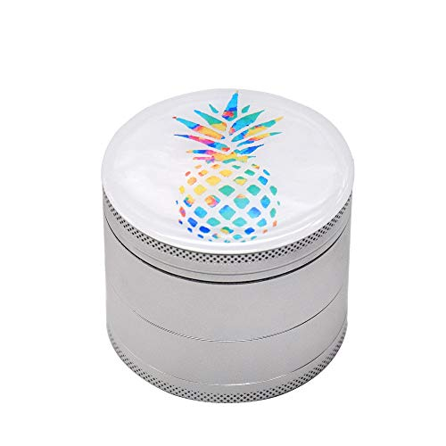 Sale!! Hlake Herb Grinder, Aluminum Alloy 4-layer Rotating Blade Dental Metal Smoker Manual Grinding...