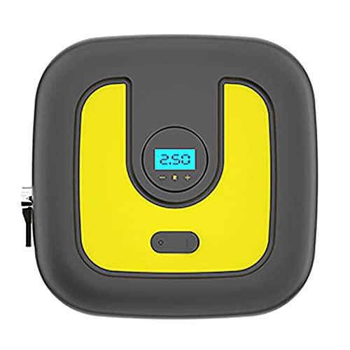 SLATIOM Inflador de neumáticos compresor Aire portátil con Calibre Bomba Digital automática para Coche Dc12v 150 PSI luz LED
