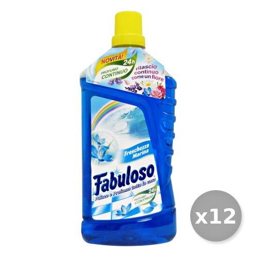 Set 12 FABULOSO Pavimenti MARINA 1 Lt Detergenti Casa