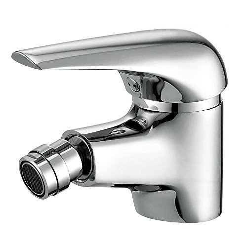 Joyway Bidet Faucet with Single Hole-Solid Brass Ceramic Valve Bidet Toilet Attachment for Hot and Cold Water (Chrome)