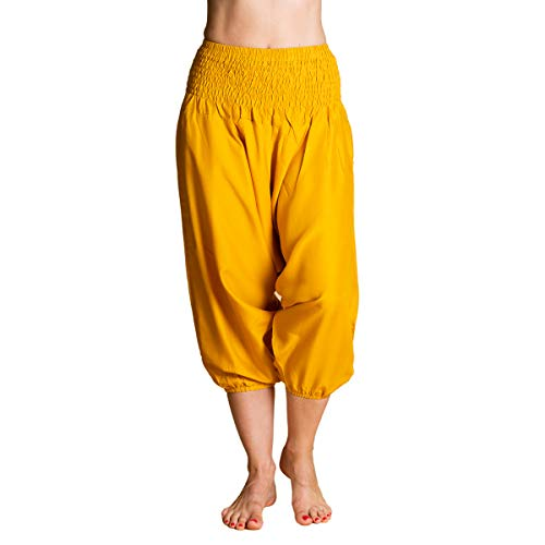 PANASIAM Pantalones Tipo Harem, para Adolescentes o como pantalón 3/4, Viscosa