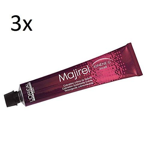 3x Loreal Majirel Cremehaarfarbe 50ml (10 platinblond)