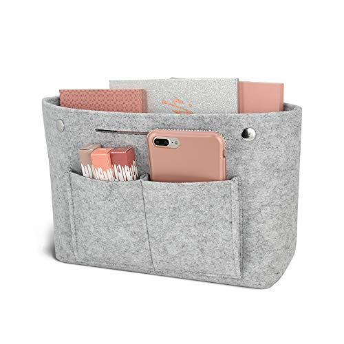 DLseego Felt Tote Handbag Purse Cosmetic Storage Makeup Bag Pocketbook Organizer Insert Divider Shaper Bag in Bag