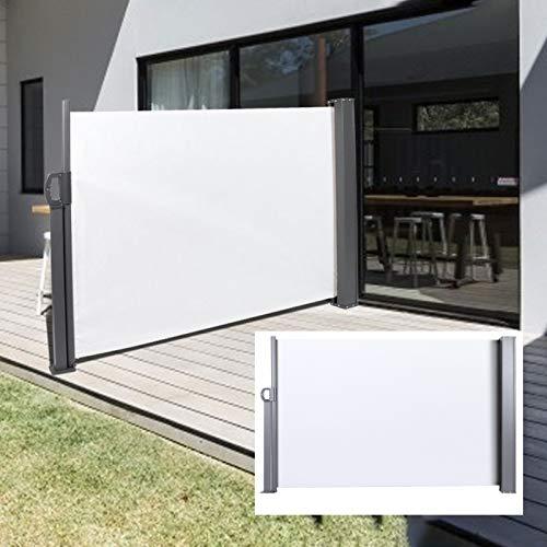 DD&Eren 100 * 300CM Toldo Lateral retráctil Impermeable para Exteriores toldo para jardín Patio Beige Comercial para el hogar