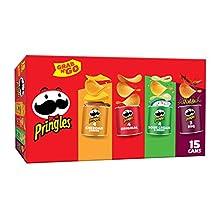 Pringles, Potato Crisps Chips, Variety Pack, Snacks On The Go, Grab N' Go, 20.6oz Box (15 Count)