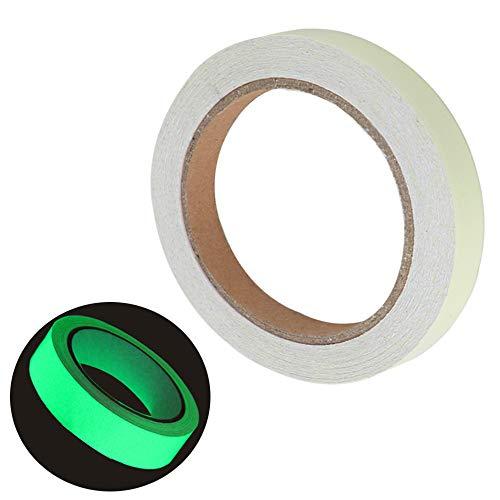 FULARR 10m X 1cm Premium Pegatina de Cinta Luminosa, Glow in The Dark Tape, Cinta Adhesiva de Seguridad Autoadhesiva Fluorescente, Extraíble Impermeable Durable Estable Seguridad –– Luz Verde