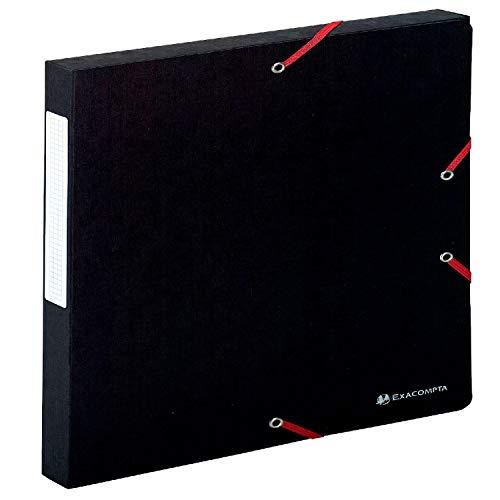Exacompta 50701E - Carpeta de proyecto con goma, color negro