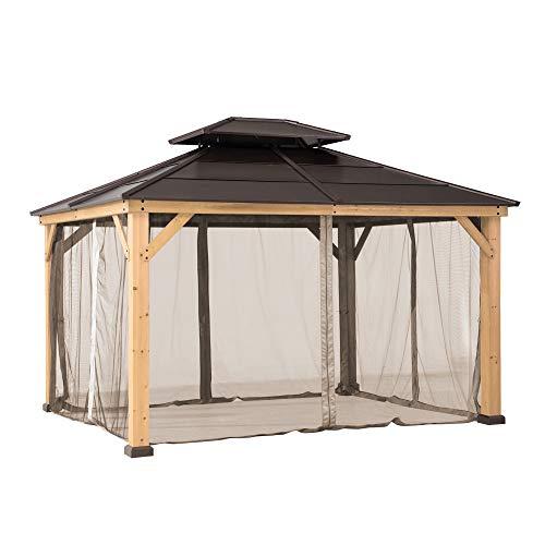 Sunjoy Original Universal Replacement Mosquito Netting for 13 × 15 ft. Wood Gazebo, Khaki