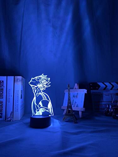 Luz nocturna 3D en 3D, anime, Haikyu Bokuto Light para habitación, decoración de niños, regalo de cumpleaños, manga, gadget Kotaro, Bokuto Lamp Haikyuu ZGLQ