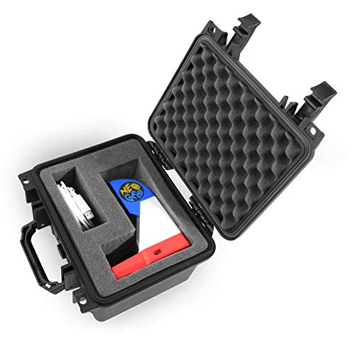 CASEMATIX Rugged Carry Case Fits SNK NEOGEO Mini Console Arcade and Accessories - Works for NEO GEO International, Mini Pad Controller, Charge Cable and More - Includes CASE ONLY