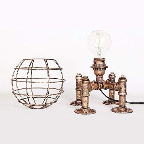 Lámparas de mesa, lámpara de mesita de noche, lámpara de escritorio, recepción, estudio, dormitorio, iluminación de escritorio, iluminación de base, color dorado