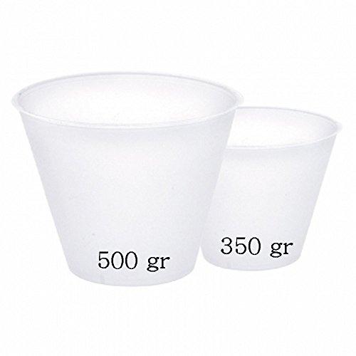2 Basi In Plastica Per Uovo Di Cioccolato Da 500g Decora