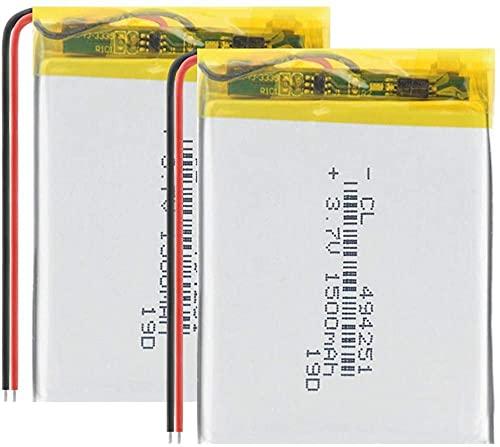 3.7V 1500mAh 494251 Batteria polimerica al litio per gli strumenti di navigazione MP3 MP4 Piccoli giocattoli e altri prodotti Batterie-2 pezzi
