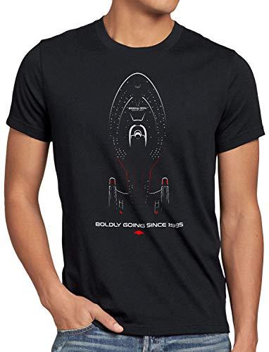 style3 Voyager Herren T-Shirt Nine Trek Trekkie Star, Größe:L