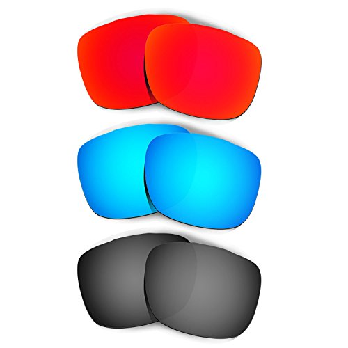 HKUCO Plus Mens Replacement Lenses For Oakley TwoFace Sunglasses Red/Blue/Black Polarized