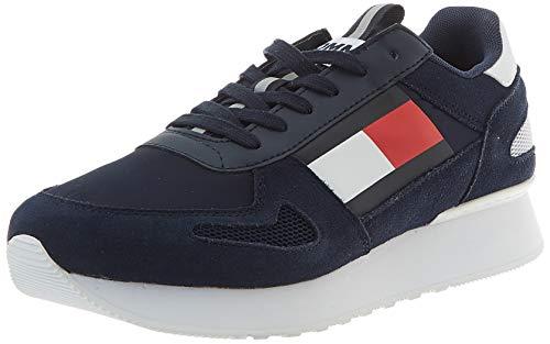 Tommy Hilfiger Tommy Jeans Lifestyle Runner, Zapatillas Hombre, Azul (Twilight Navy C87), 45 EU