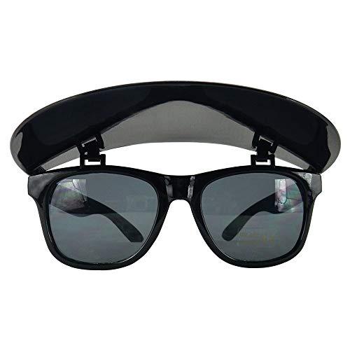 Sunglasses with Foldable Visor - Sport Sun Visor - Frame Sunglasses, Flip-Up/Removable Visor, UV400 Protection - Black