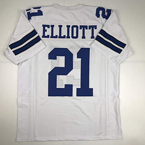 Unsigned Ezekiel Elliott White Custom Stitched Football Jersey Size XL New No Brands/Logos