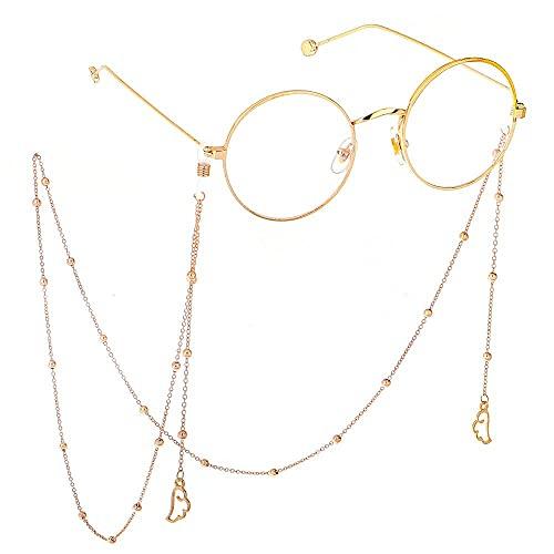 YANJ Gafas Cadena Gafas de Sol Cadena Gafas Cordón Gafas Correa Moda Simple Alas de ángel Doradas Color Cassette Ocio Gafas Cadena Cadena de Metal Cadena de Gafas