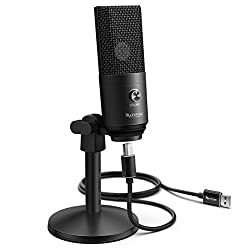 Fifine K670B USB Microphone with Headphone Monitoring 3.5mm Jack and Removable USB Connectivity Cable for Windows or MAC Computer, PC, Laptop,Fifine,K670B