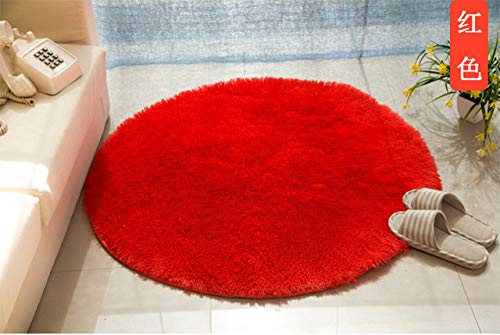 KEAINIDENI toiletmat massief zacht badtapijt tapijt, ronde 1 stuks antislip badmatten tapijt in het toilet, mat tapijten voor badkamer diameter 120cm Dahongse