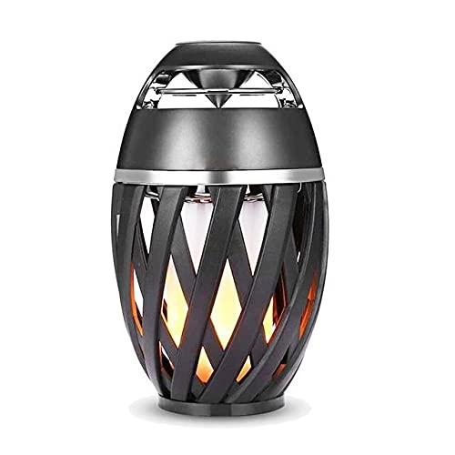 QAK LED Light LED Portátil USB Altavoz Bluetooth Linterna Al Aire Libre Reproductor De Música Partido Camping Atmósfera Noche Luz,C