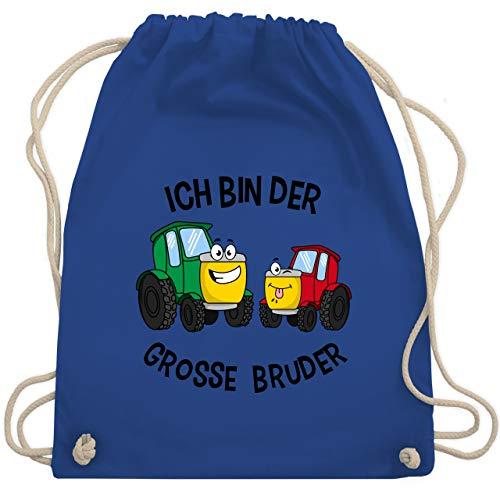 Shirtracer Geschwister Bruder und Schwester - Ich bin der grosse Bruder Traktor - Unisize - Royalblau - kinder beutel klein - WM110 - Turnbeutel und Stoffbeutel aus Baumwolle
