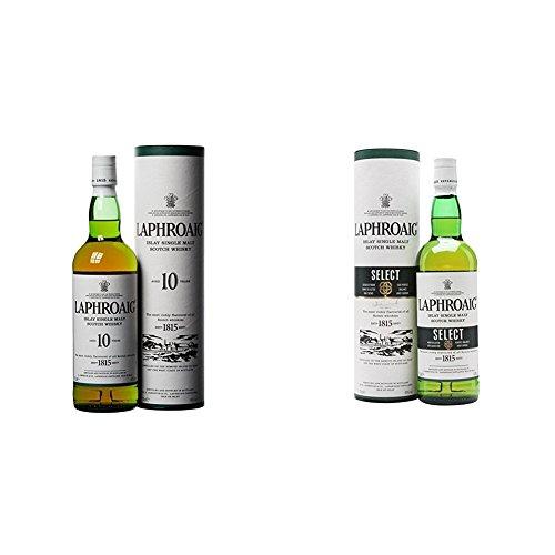 Laphroaig - Whisky Islay Single Malt, 10 años, 70 cl + Laphroaig - Whisky...