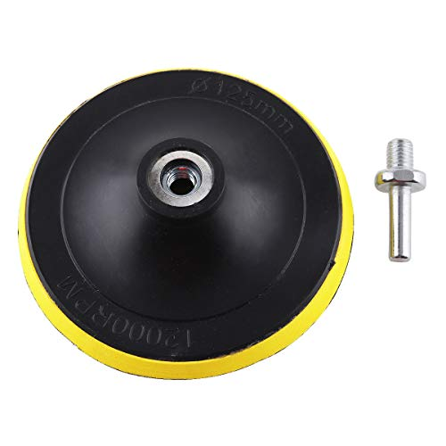 ChgImposs 5 Inch 12000rpm Disc Pad, Self-adhesive Abrasive Sandpaper with 10mm Inner Hole and 8mm Diameter Drill Shank for Electric Grinder Accessoriess
