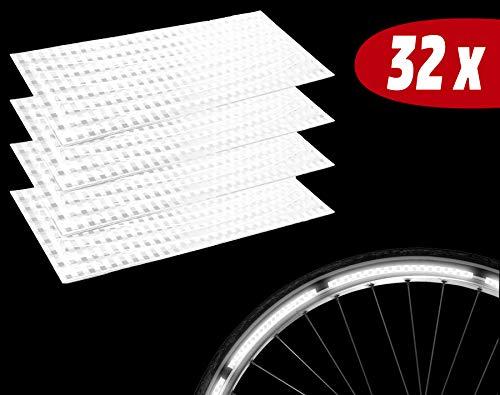 Lucky Humans® -Hochwertige Premium Fahrrad Reflektoren Sticker, Fahrrad Aufkleber- Reflektorband selbstklebend, auch für Reflektor Schulranzen, Helm, Kinderwagen, reflektierend, STVO zugelassen