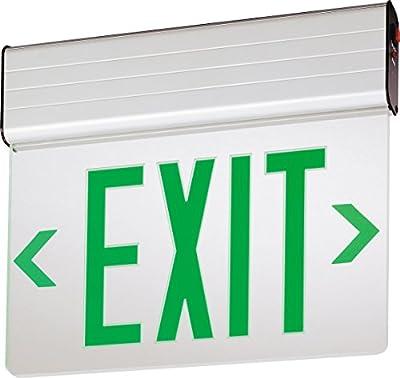 Lithonia Lighting EDG 2 G EL M6 Aluminum LED Emergency Exit Sign