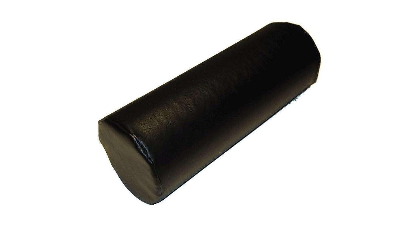 あえて地下鉄しつけInsula Sana管状頸部ピロー、のど革、黒色、寸法180 x 15 cm