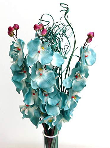Flores artificiales. Orquídea 75cm listo para un florero juego de 3tallos