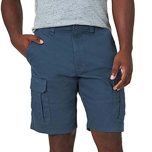 Pangki - Pantalones cortos de trabajo para hombre, de cinco puntos, elásticos, con bolsillo para azul marino XXX-Small