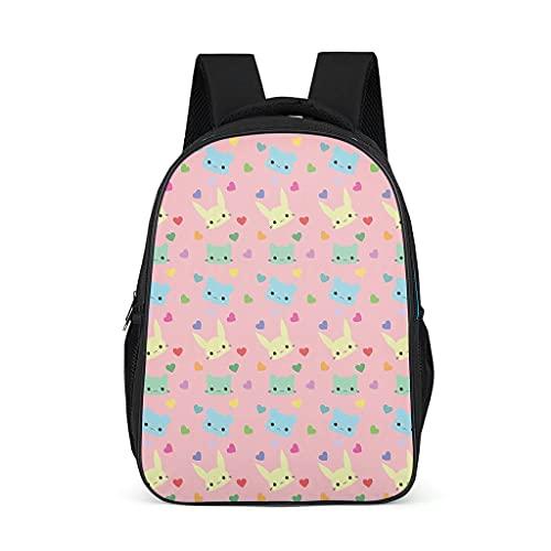 Mochila colorida de dibujos animados lindos gatos diseño Bookbag multifunción Daypack bolsa de viaje para adolescentes niño, color, talla Talla única